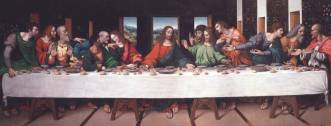 "da Vinci's famous ""Last Supper"" painting."