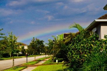 Rainbow outside Nana's.