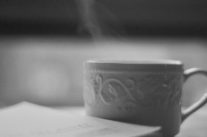 A steaming cup, as part of a relaxing morning routine.